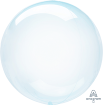"Anagram Crystal Clearz 18 - 22"" Blue Balloon (Pkgd)"