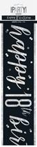 Black Glitz 18th Birthday Foil Banner 9ft