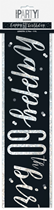 Black Glitz 60th Birthday Foil Banner 9ft