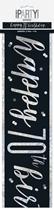 Black Glitz 70th Birthday Foil Banner 9ft