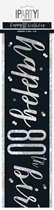 Black Glitz 80th Birthday Foil Banner 9ft