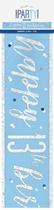 Blue Glitz 13th Birthday Foil Banner 9ft