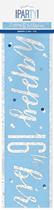 Blue Glitz 16th Birthday Foil Banner 9ft