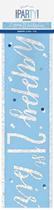 Blue Glitz 21st Birthday Foil Banner 9ft