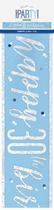 Blue Glitz 30th Birthday Foil Banner 9ft