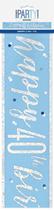 Blue Glitz 40th Birthday Foil Banner 9ft