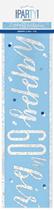 Blue Glitz 60th Birthday Foil Banner 9ft
