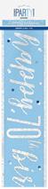 Blue Glitz 70th Birthday Foil Banner 9ft