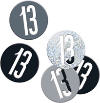 Black Glitz 13th Birthday Foil Confetti 14g