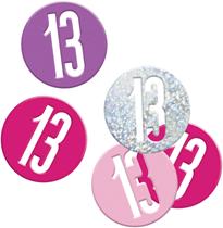 Pink Glitz 13th Birthday Foil Confetti 14g