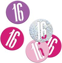 Pink Glitz 16th Birthday Foil Confetti 14g