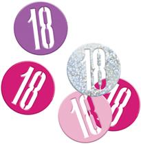 Pink Glitz 18th Birthday Foil Confetti 14g