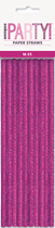Glitz Pink Foil Paper Straws 10pk