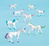 Plastic Unicorn Figurine Party Favours 8pk