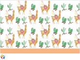 Llama Party Plastic Tablecover