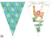 Llama Party Flag Banner (9 Flags)