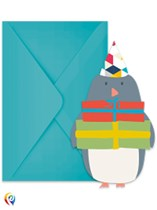 Arctic Penguin Invitations and Envelopes 6pk