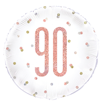 "Rose Gold Glitz 90th Birthday 18"" Foil Balloon"