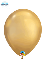 "Qualatex Chrome 7"" Gold Latex Balloons 100pk"
