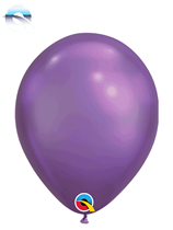 "Qualatex Chrome 7"" Purple Latex Balloons 100pk"
