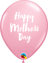 "Mother's Day Script Pink 11"" Latex Balloons 6pk"