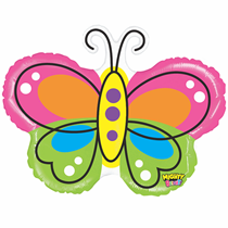 "Mighty Bright 28"" Butterfly Foil Balloon"