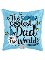 "Coolest Dad Father's Day 18"" Square Foil Balloon"
