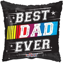"Best Dad Ever 18"" Square Foil Balloon"