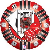 "Casino Chip 18"" Foil Balloon"