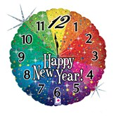 "New Year Countdown Holographic 18"" Foil Balloon"