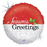 "Holographic Seasons Greetings 18"" Foil Balloon"