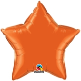 "Orange 20"" Star Foil Balloon"