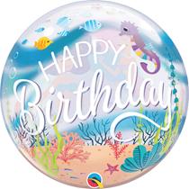 """Ocean Mermaid Birthday 22"""" Bubble Balloon"""