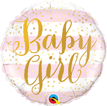 "Baby Girl Pink Stripes 18"" Foil Balloon"