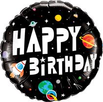 "Space Astronaut Happy Birthday 18"" Foil Balloon"