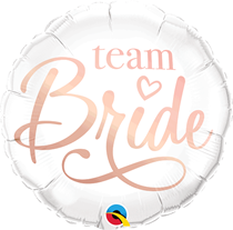 "White Team Bride 18"" Hen Party Foil Balloon"