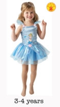 Cinderella Ballerina Fancy Dress Costume - Small