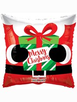 "Merry Christmas Santa 18"" Square Foil Balloon"