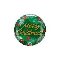 """Christmas Berries 9"""" Air Fill Foil Balloon"""