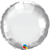 "Chrome Silver 18"" Round Foil Balloon (Pkgd)"