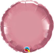 """Chrome Mauve 18"""" Round Foil Balloon (Pkgd)"""