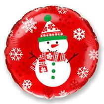 "Christmas Snowman 18"" Foil Balloon"