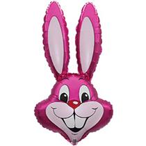 """Jumbo Hot Pink Rabbit 35"""" Foil Balloon Pkgd"""