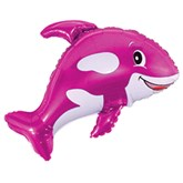"""Orca Pink Killer Whale 35"""" Foil Balloon (Loose)"""