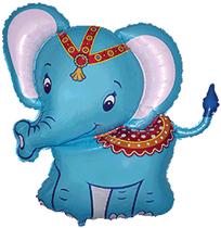 """Jumbo Baby Elephant 34"""" Foil Balloon"""