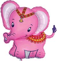 """Jumbo Baby Elephant Pink 34"""" Foil Balloon"""