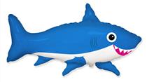 Jumbo Blue Smiling Shark Foil Balloon