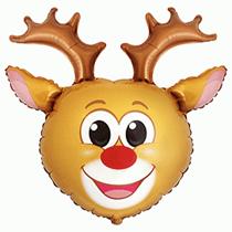 Christmas Reindeer Jumbo Foil Balloon