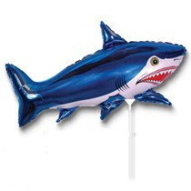 "Blue Shark 14"" Mini Shape Foil Balloon"