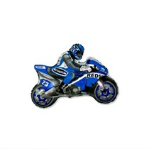 "Blue Motorbike 14"" Mini Shape Foil Balloon"